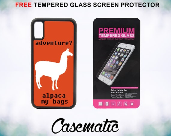 Alpaca Adventure Case With FREE Tempered Glass Screen Protector For iPhone 8 iPhone 8 Plus iPhone 7 iPhone 7 Plus iPhone X