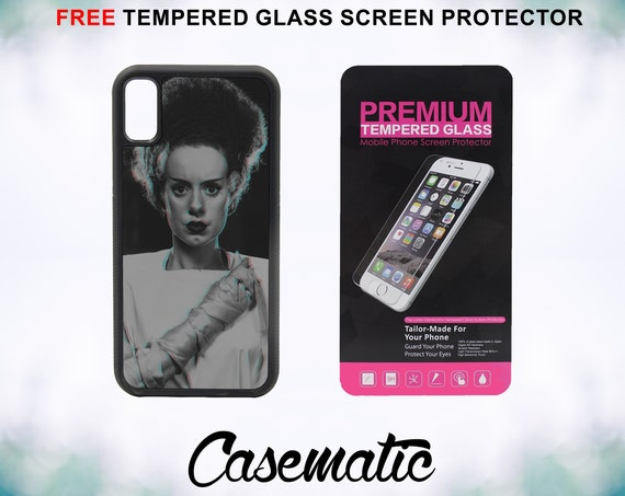 Bride of Frankenstein Case With FREE Tempered Glass Screen Protector For iPhone 8 iPhone 8 Plus iPhone 7 iPhone 7 Plus iPhone X