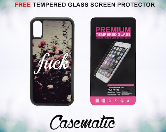 Mature Hipster Quote Case With FREE Tempered Glass Screen Protector For iPhone 8 iPhone 8 Plus iPhone 7 iPhone 7 Plus iPhone X