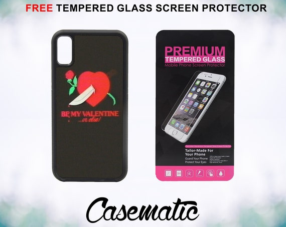 Retro 80's Love Case With FREE Tempered Glass Screen Protector For iPhone 8 iPhone 8 Plus iPhone 7 iPhone 7 Plus iPhone X