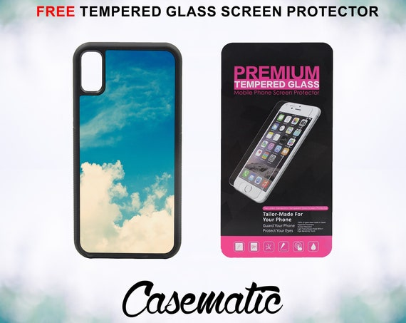Cloud Case With FREE Tempered Glass Screen Protector For iPhone 8 iPhone 8 Plus iPhone 7 iPhone 7 Plus iPhone X