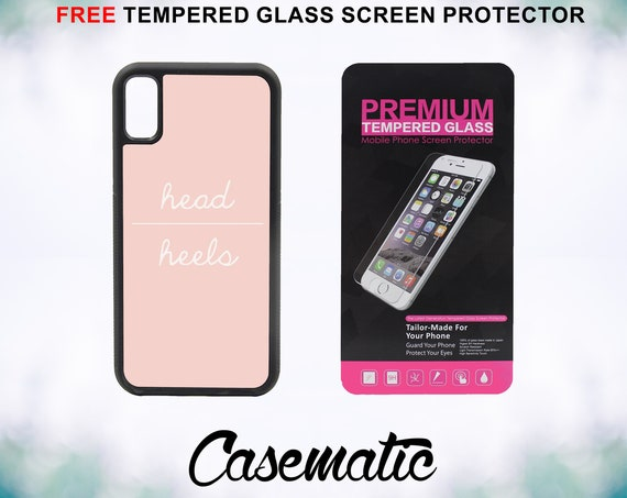Head over Heels Case With FREE Tempered Glass Screen Protector For iPhone 8 iPhone 8 Plus iPhone 7 iPhone 7 Plus iPhone X