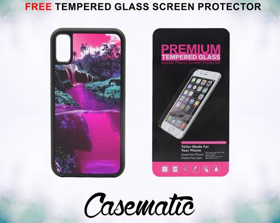 Lean World Case Case With FREE Tempered Glass Screen Protector For iPhone 8 iPhone 8 Plus iPhone 7 iPhone 7 Plus iPhone X