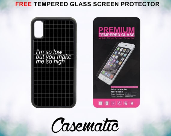Make Me So High Case With FREE Tempered Glass Screen Protector For iPhone 8 iPhone 8 Plus iPhone 7 iPhone 7 Plus iPhone X