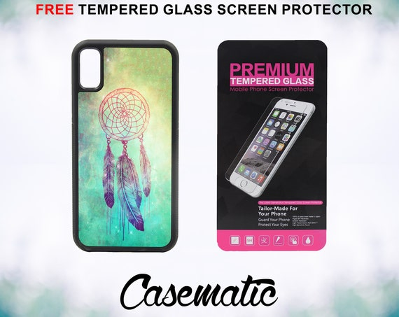 Dream Catcher Case With FREE Tempered Glass Screen Protector For iPhone 8 iPhone 8 Plus iPhone 7 iPhone 7 Plus iPhone X