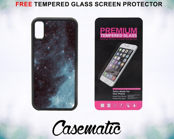 Trippy Stars Case With FREE Tempered Glass Screen Protector For iPhone 8 iPhone 8 Plus iPhone 7 iPhone 7 Plus iPhone X