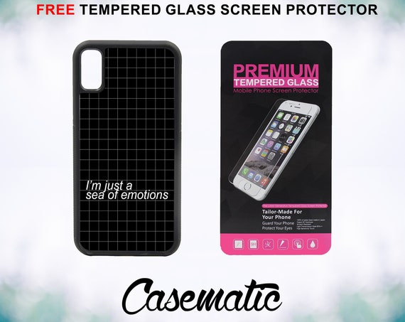 Sea of Emotion Case With FREE Tempered Glass Screen Protector For iPhone 8 iPhone 8 Plus iPhone 7 iPhone 7 Plus iPhone X