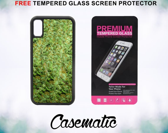 The Ganja Life Case With FREE Tempered Glass Screen Protector For iPhone 8 iPhone 8 Plus iPhone 7 iPhone 7 Plus iPhone X