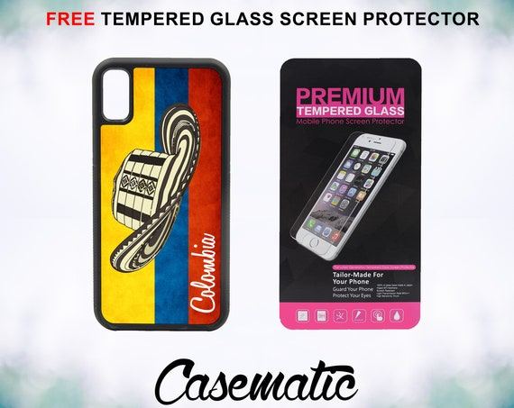 Colombian Colombia Vueltiao Hat Flag Fashionable Trendy iPhone Case XR XS Max X 8 Plus 8 7 Plus 7 6 Plus 6 6s SE 5S 5c 4 Screen Protector