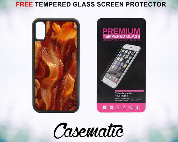 Bacon for Life iPhone Case for iPhone XR XS Max X 8 Plus 8 7 Plus 7 6 Plus 6 6s SE 5S 5c 4 4s Free Tempered Glass Screen Protector