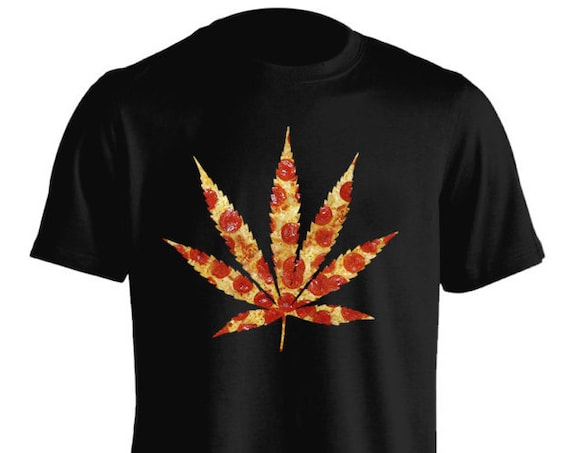 420 Delicious Pizza Stoner Pot Weed T-Shirt Graphic Tee For Men Women Teens Unisex Adult Apparel Great Gift Idea Comes in Assorted Colors