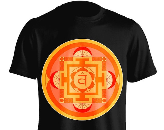Chakra Swadhisthana Peaceful T-Shirt Graphic Tee For Women Teen Girls Fitness Adult Apparel Great Gift Idea Comes in Assorted Colors