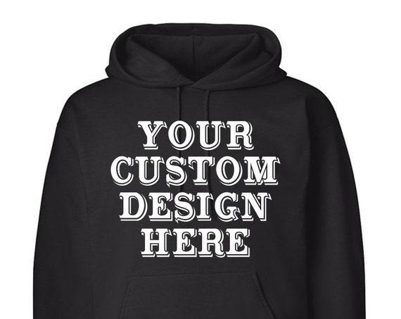Custom Design Adult Unisex Hoodie Black and White Hoody Warm Clothing Men and Women Hoodies Adult Hoodies Sweatshirts Assorted Color Hoodies