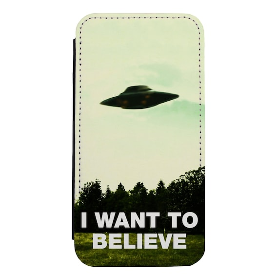 I Want To Believe for iPhone 5/5s/SE 6/6s 6/6sPlus 7/7Plus 8/8Plus X Samsung Galaxy S6/S6Edge S7/S7Edge S8/S8Plus Wallet Case