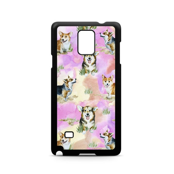 Cute Corgi Pink Watercolor Art Pattern for Samsung Galaxy Note 8, Note 5, Note 4, Note 3 Phone Case Phone Cover