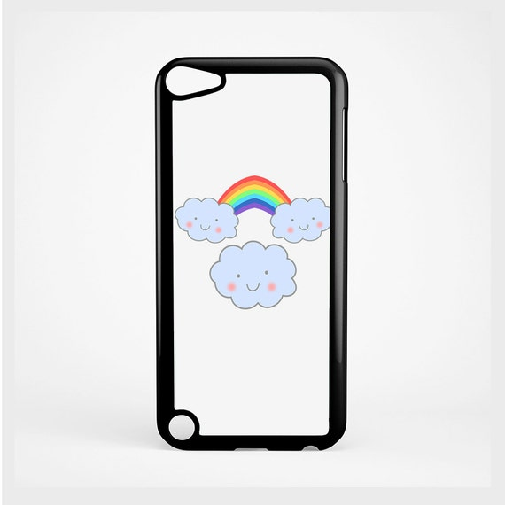 iPod Case Cute Kawaii Happy Clouds For iPod 4th Generation, iPod 5th Generation, and iPod 6th Generation