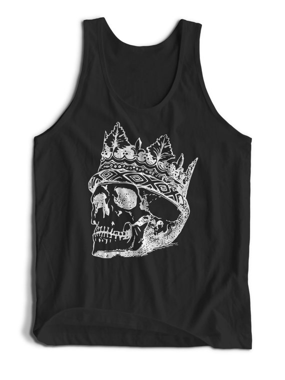 King of the Dead Crown and Skull Men Women Teens Unisex Adult Apparel Tank Top Summer Clothing Assorted Colors Tanks Colorful Tank Tops