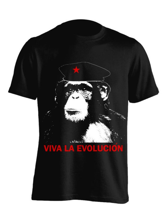 Viva La Evolucion Monkey T-Shirt  Graphic Tee For Women Teen Girls Fitness Adult Apparel Great Gift Idea Comes in Assorted Colors