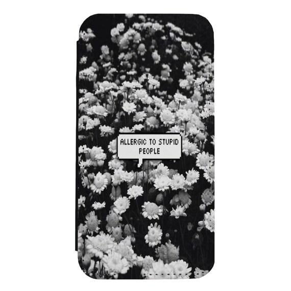 Mature Allergies Quote for iPhone 5/5s/SE 6/6s 6/6sPlus 7/7Plus 8/8Plus X Samsung Galaxy S6/S6Edge S7/S7Edge S8/S8Plus Wallet Case