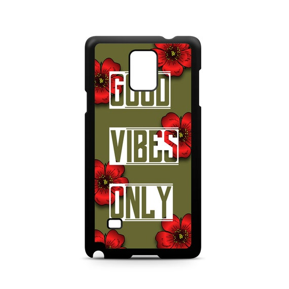 Tropical Good Vibes Only Positive Energy for Samsung Galaxy Note 8, Note 5, Note 4, Note 3 Phone Case Phone Cover