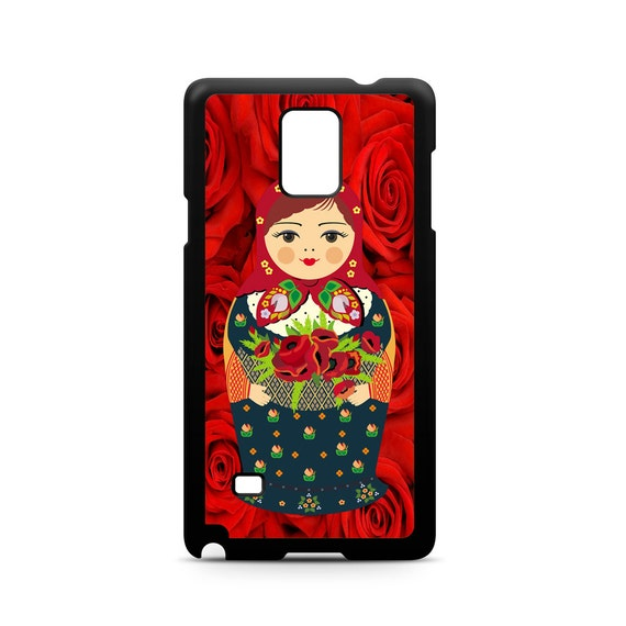 Red Roses Nesting Doll Flower Lady for Samsung Galaxy Note 9, Note 8, Note 5, Note 4, Note 3 Phone Case