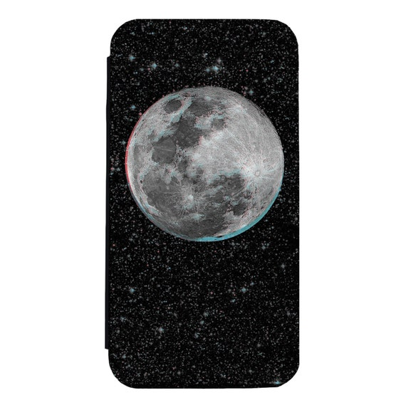 The Moon Trip for iPhone 5/5s/SE 6/6s 6/6sPlus 7/7Plus 8/8Plus X Samsung Galaxy S6/S6Edge S7/S7Edge S8/S8Plus Wallet Case