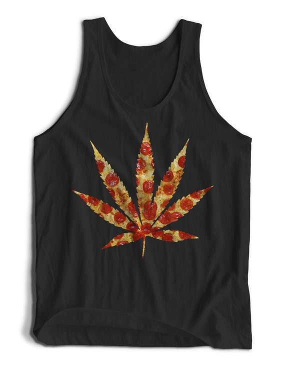Pizza Weed Shirt Marijuanna 420 Hippie Shirt Men Women Teens Unisex Adult Apparel Tank Top Summer Clothing Assorted Colors Tanks Color Tanks