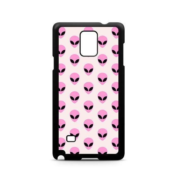 Grunge Pink Pastel Alien Pattern for Samsung Galaxy Note 9, Note 8, Note 5, Note 4, Note 3 Phone Case Phone Cover