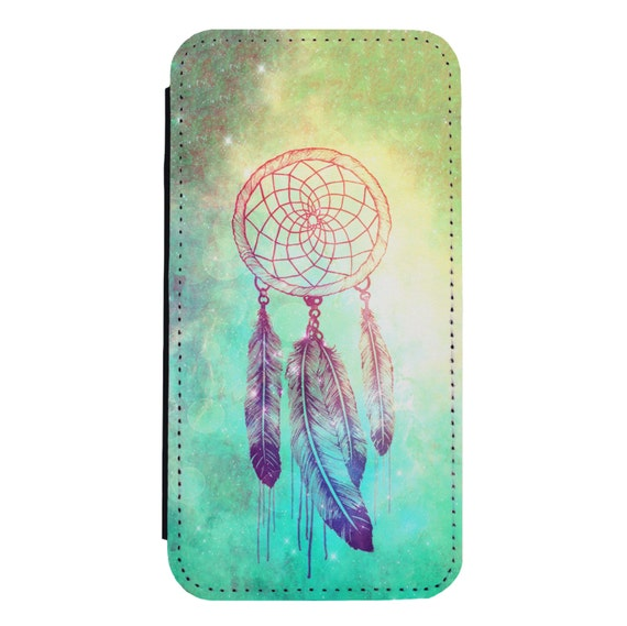 Nebula Dream Catcher for iPhone 5/5s/SE 6/6s 6/6sPlus 7/7Plus 8/8Plus X Samsung Galaxy S6/S6Edge S7/S7Edge S8/S8Plus Wallet Case