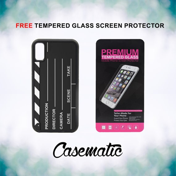 Hollywood Clapper Board iPhone Case for iPhone XR XS Max X 8 Plus 8 7 Plus 7 6 Plus 6 6s SE 5S 5c 4 4s Screen Protector Movies Action Film