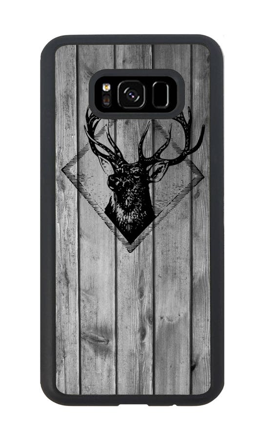 deer stag wooden stamp for samsung galaxy s9 plus s9 s8 etsy rh etsy com