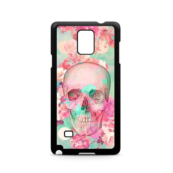 Beautiful Flowers Skull for Samsung Galaxy Note 9, Note 8, Note 5, Note 4, Note 3 Phone Case Phone Cover