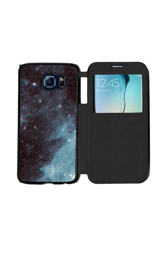 Unique Trendy Trippy Stars Phone Case for Samsung GalaxyS6, S6 EDGE, S7 and S7 EDGE Flip Case