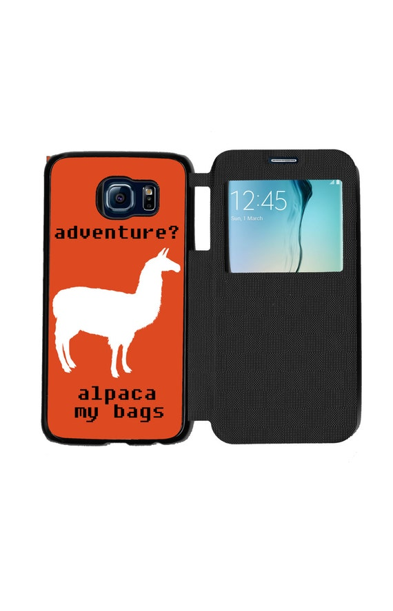 Unique Trendy Alpaca Adventure for Samsung GalaxyS6, S6 EDGE, S7 and S7 EDGE Flip Case