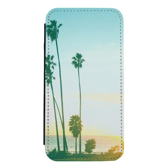 Retro California beach for iPhone 5/5s/SE 6/6s 6/6sPlus 7/7Plus 8/8Plus X Samsung Galaxy S6/S6Edge S7/S7Edge S8/S8Plus Wallet Case