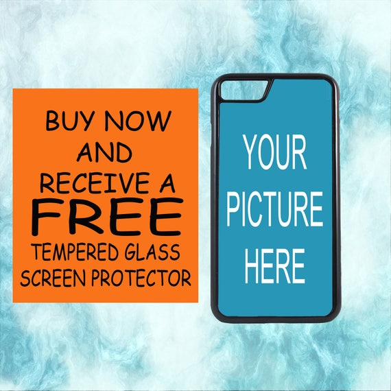 Create Your Own Custom Design Case With FREE Tempered Glass Screen Protector For iPhone 8 iPhone 8 Plus iPhone 7 iPhone 7 Plus iPhone X