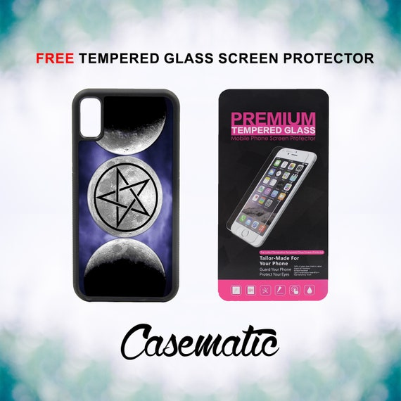 The Moon Goddess Symbol Wicca iPhone Case for iPhone XR XS Max X 8 Plus 8 7 Plus 7 6 Plus 6 6s SE 5S 5c 4 4s Screen Protector Phone Cover