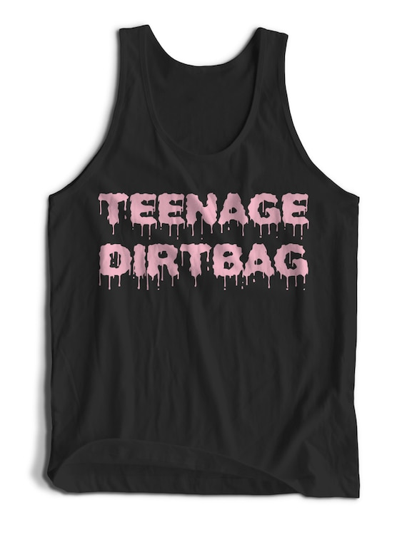 Dripping Marker Slogan Teenage Dirtbag Tank Top for Men Women Teens Unisex Adult Apparel Tank Top Summer Clothing Great Gift Ideas