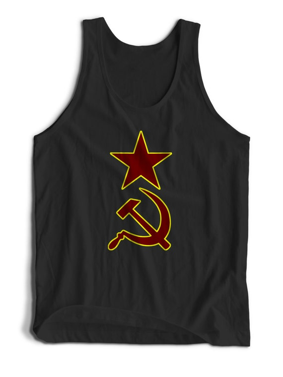 Hammer And Sickle Soviet Russian Symbol for Men Women Teens Unisex Adult Apparel Tank Top Summer Clothing Assorted Colors Tanks