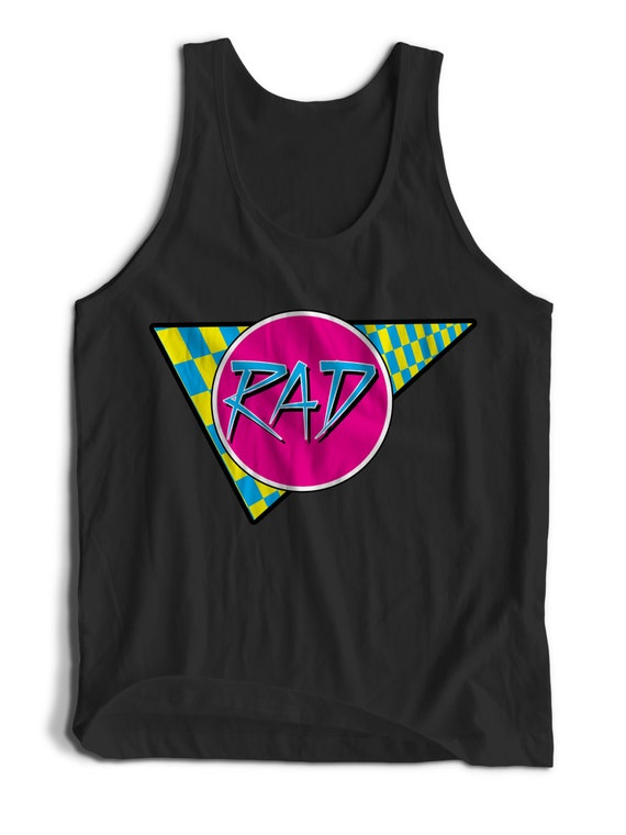 Rad 80s Retro Modern Retro Vintage for  Men Women Teen Unisex Adult Apparel Tank Top Summer Clothing Assorted Colors Tanks Colorful Tank Top