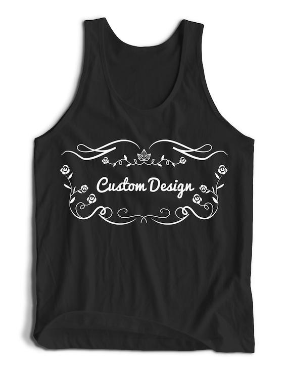 Custom Design Tank Top  Men Women Teens Unisex Adult Apparel Tank Top Summer Clothing Custom Assorted Colors Tanks Colorful Tank Tops