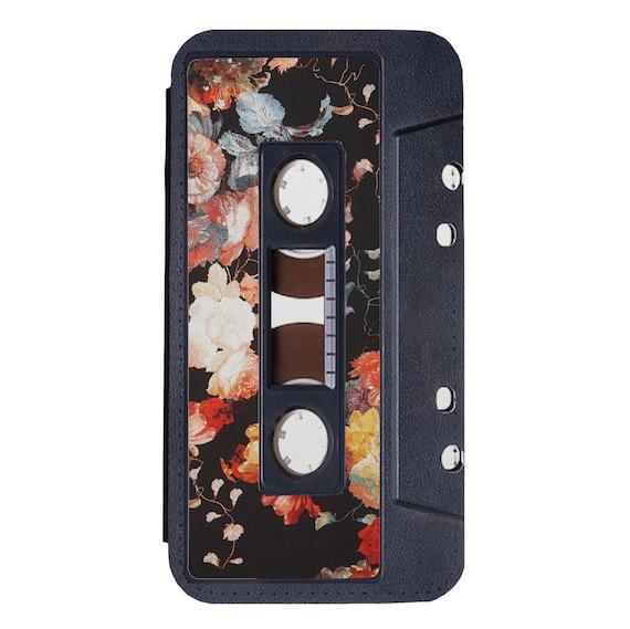 Vintage Floral Cassette for iPhone 5/5s/SE 6/6s 6/6sPlus 7/7Plus 8/8Plus X Samsung Galaxy S6/S6Edge S7/S7Edge S8/S8Plus Wallet Case
