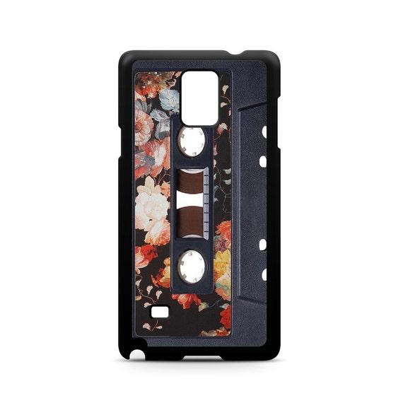 Vintage Floral Pattern Cassette Tape for Samsung Galaxy Note 9, Note 8, Note 5, Note 4, Note 3 Phone Case Phone Cover