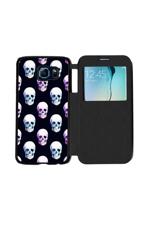 Day Of The Day Case Trendy Halloween Skull Pattern Phone Case  for Samsung GalaxyS6, S6 EDGE, S7 and S7 EDGE Flip Case