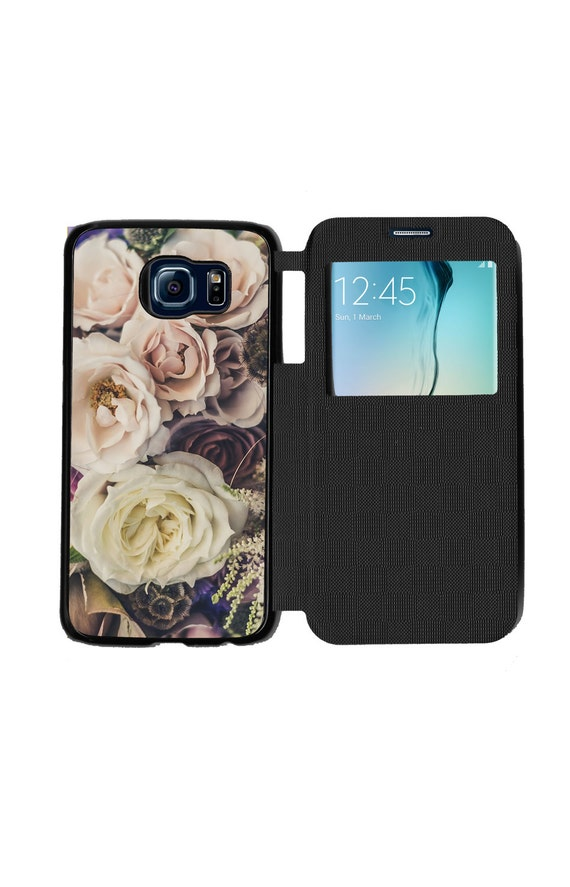 Unique Trendy Bouquet Of Flowers for Samsung GalaxyS6, S6 EDGE, S7 and S7 EDGE Flip Case