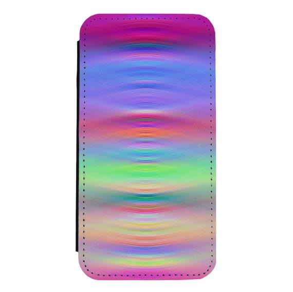 Trippy Pattern ffor iPhone 5/5s/SE 6/6s 6/6sPlus 7/7Plus 8/8Plus X Samsung Galaxy S6/S6Edge S7/S7Edge S8/S8Plus Wallet Case