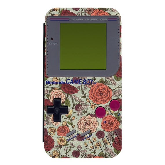 Gameboy Retro Floral for iPhone 5/5s/SE 6/6s 6/6sPlus 7/7Plus 8/8Plus X Samsung Galaxy S6/S6Edge S7/S7Edge S8/S8Plus Wallet Case