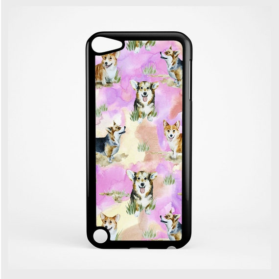 iPod Case Cute Cool Corgi Watercolor Pattern For iPod 4th Generation, iPod 5th Generation, and iPod 6th Generation