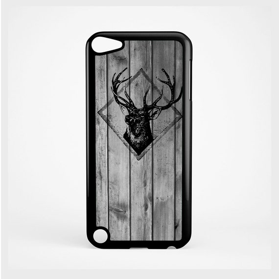 iPod Case Stag Stamp on Wood For iPod 4th Generation, iPod 5th Generation, and iPod 6th Generation