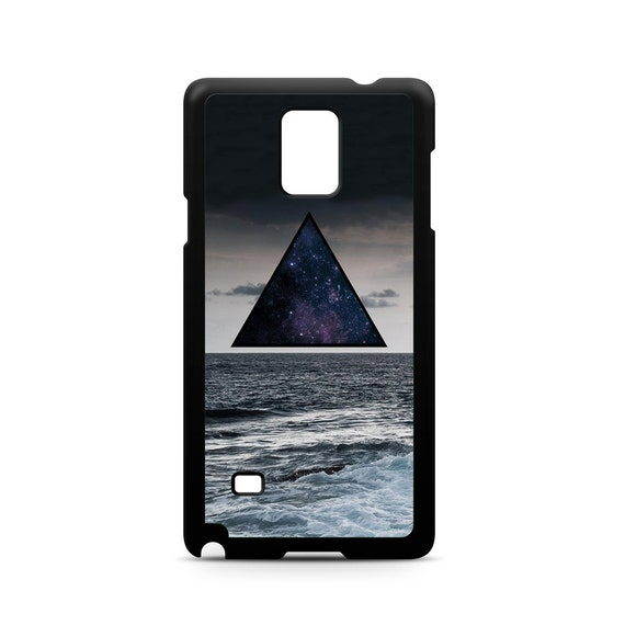 Hipster Mystical Clouds Waves Triangle Ocean for Samsung Galaxy Note 9, Note 8, Note 5, Note 4, Note 3 Phone Case Phone Cover